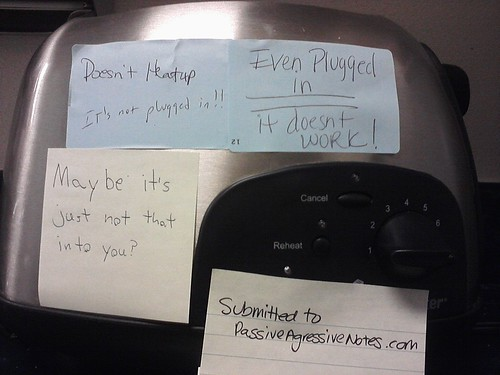 Why can't I turn this toaster on? | by passiveaggressivenotes