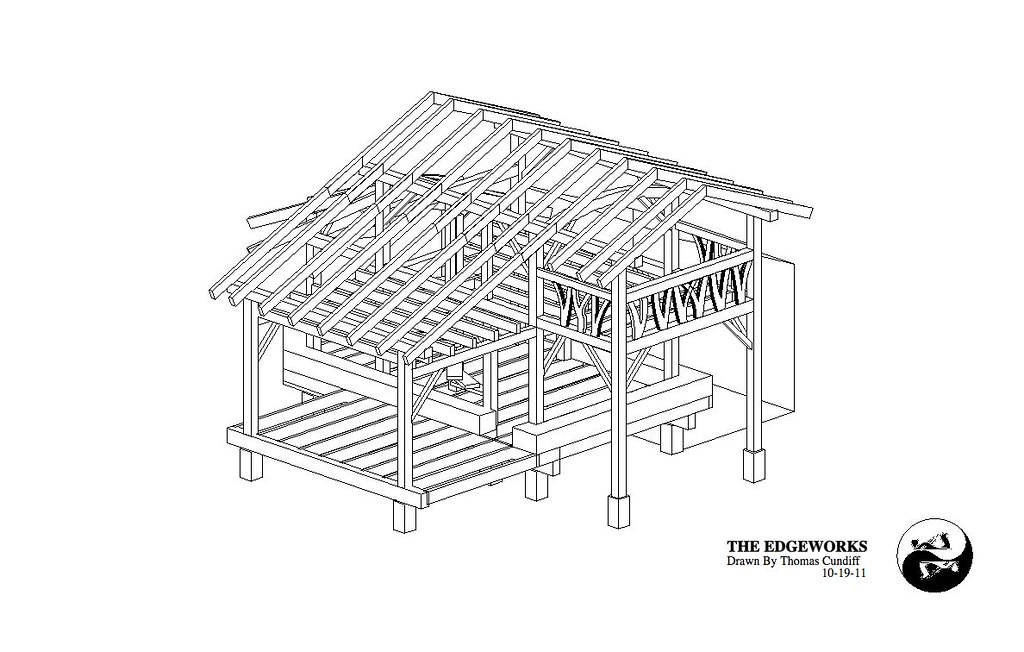 Strawtron 3d 3 our timber frame straw bale house details for Timber frame straw bale house plans