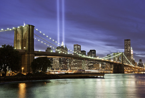 9/11 Memorial Lights NYC | by DiGitALGoLD