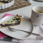 Brombeer-Tarte mit weißer Schokolade