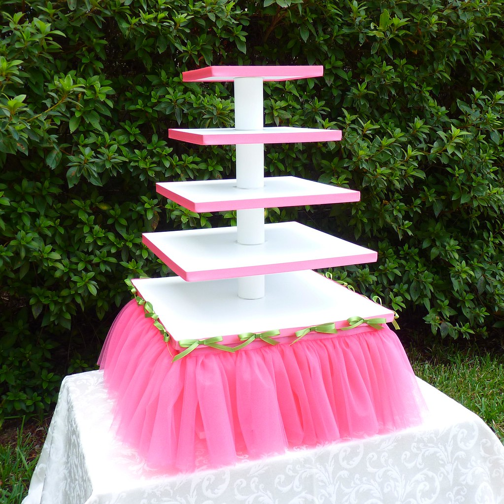 making wedding cake stands 5 tier square quot tutu quot cupcake stand pink tutu with 17077