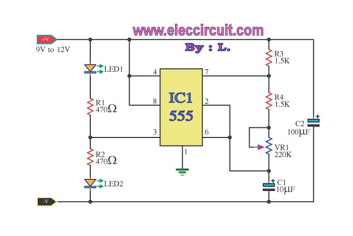 Ic 555 Led Flasher Proceeding Slowly But This Works At