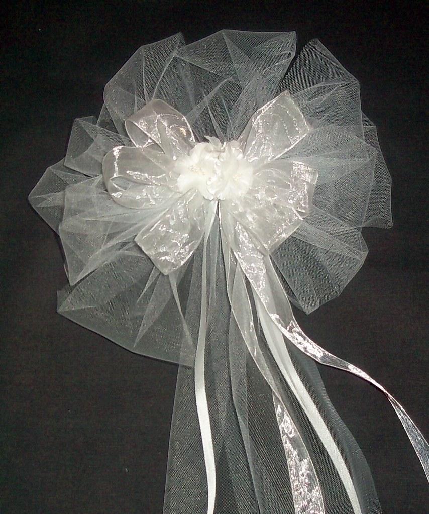 White Tulle Wedding Decorations