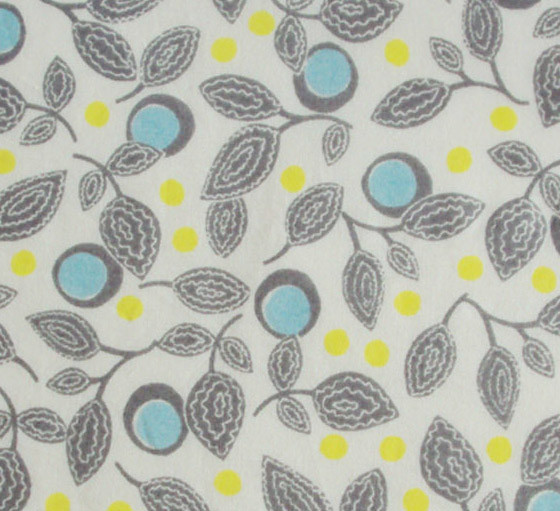 blue yellow grey leaf print on off white | floral print fabr… | Flickr