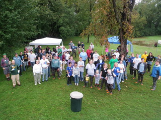 Volunteers working hard at the 9/24/11 Bread and Cheese Creek Cleanup in the North Point Area | by Clean Bread and Cheese Creek