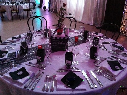 decoration table mariage cinema decoration table cinema re flickr. Black Bedroom Furniture Sets. Home Design Ideas