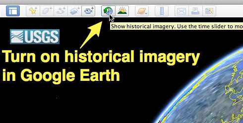 turn on historical imagery in google earth uploaded with s