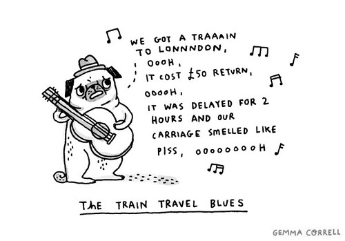 the train travellin' blues | by gemma correll