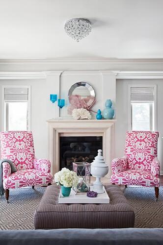 gray living room pink ikat chairs benjamin moore 39 class flickr