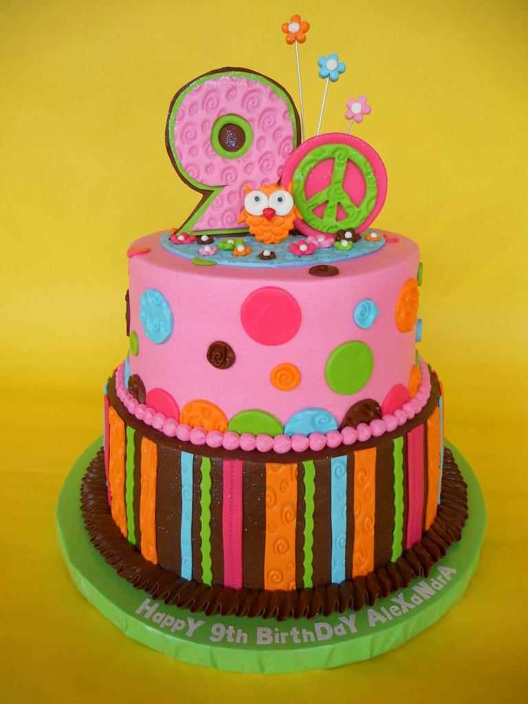 Mod Hippie Chick Birthday Cake Amy Stella Flickr