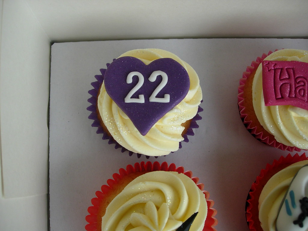 Lauras Personalised 22nd Birthday Cupcakes Flickr