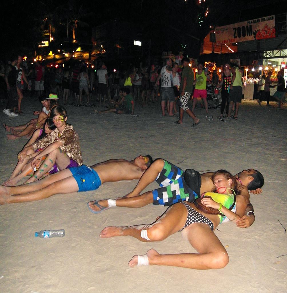 Full Moon Party Koh Phangan Thailand - 102  Michael -9690