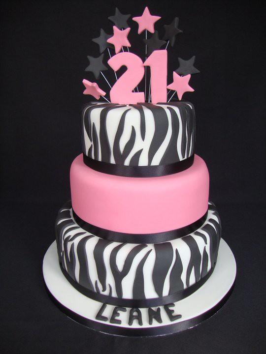 21st Zebra Print Cake By Cakes Toni