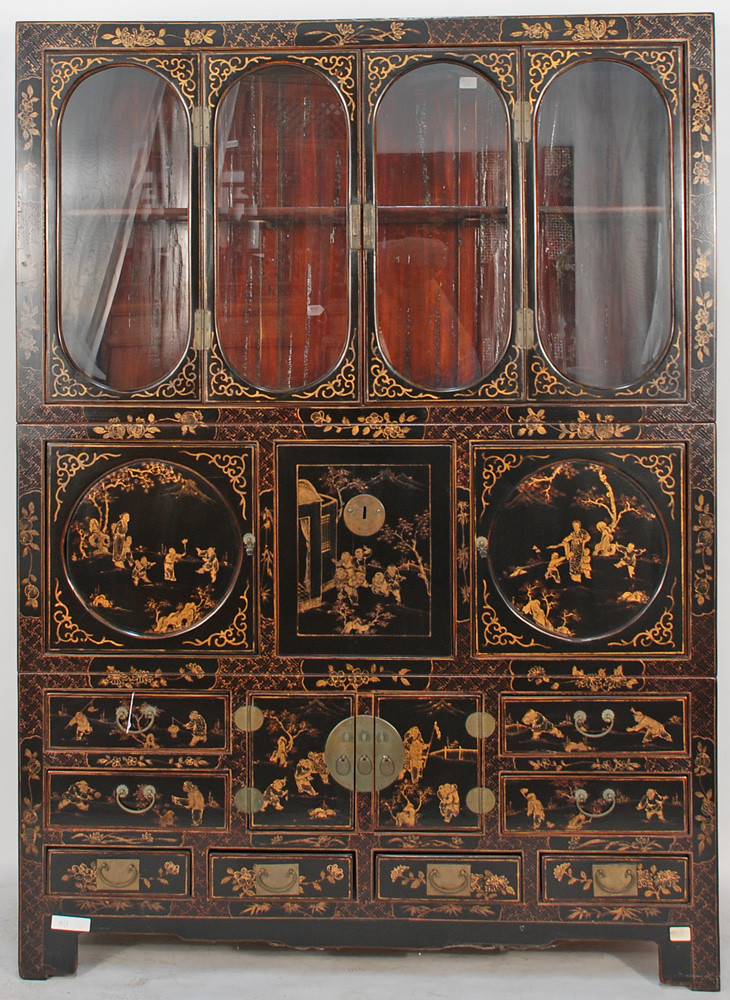 Bk0023y Antique Chinoiserie Cabinet A Magnificent