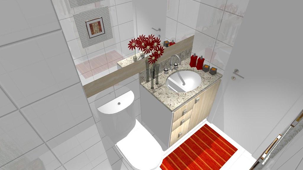 Pequeno Banheiro Social 3  Projeto de um pequeno banheiro n…  Flickr -> Banheiro Pequeno Projeto
