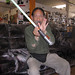 Mike Kan with the meeting lightsaber