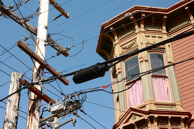 San Francisco house and telephone/power lines | Explore ...