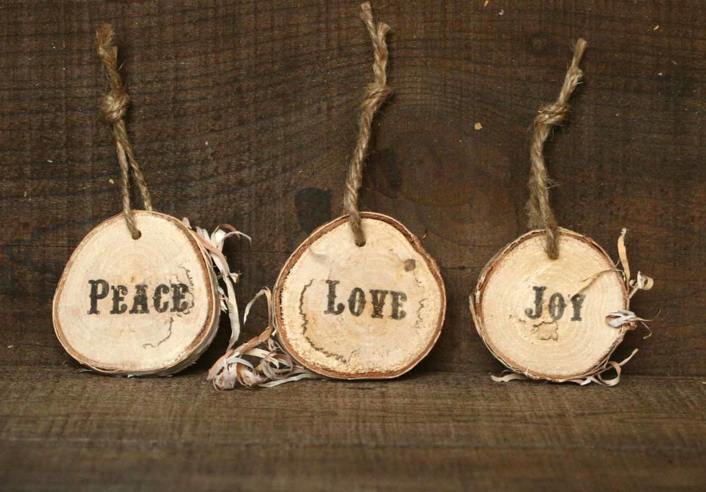 rustic christmas ornaments by littleweeshop rustic christmas ornaments by littleweeshop - Rustic Christmas Ornaments