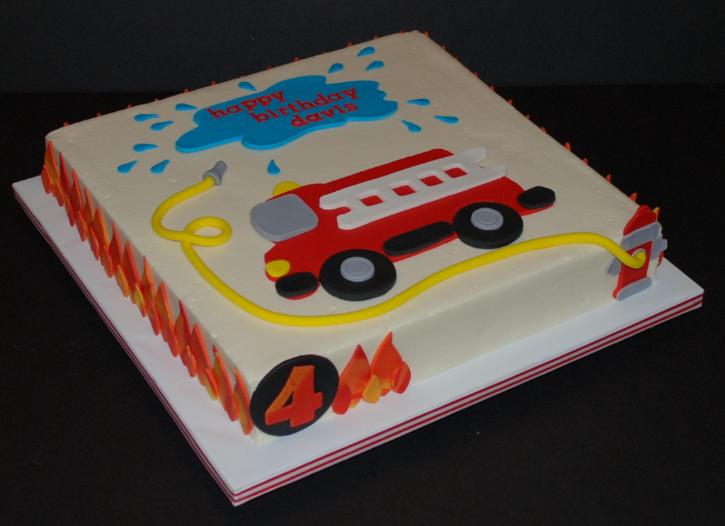 Fire Truck Cake Design : Firetruck Birthday Cake Firetruck cake for a little boy ...