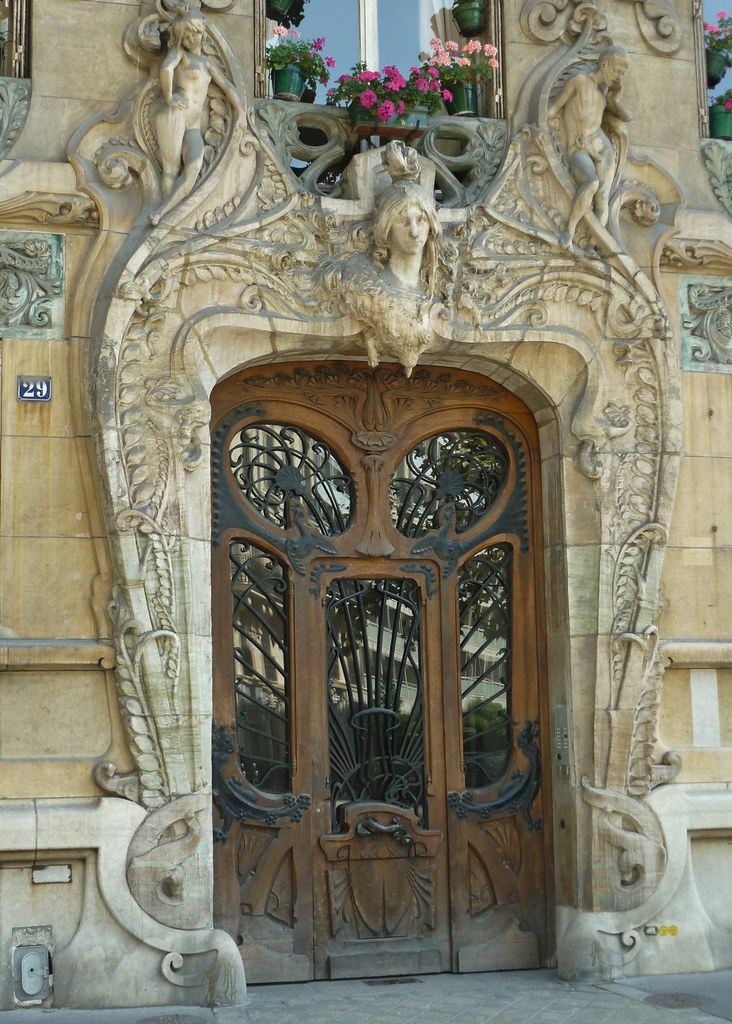 Paris Aug2011 Art Nouveau Door 1 Art Nouveau Masterpiece