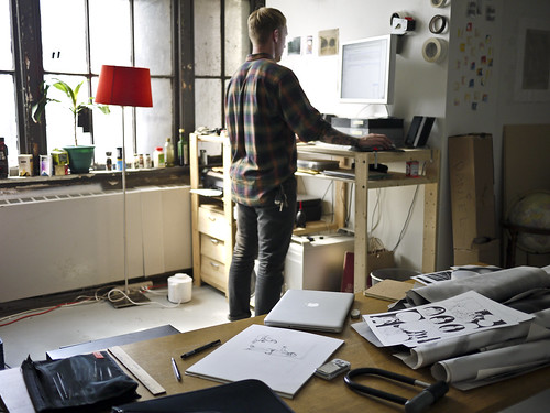 standing desk | by ramsey everydaypants