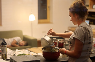 Middlebury Students Prepare Dinner and Catch Up on Sleep | by Dept of Energy Solar Decathlon