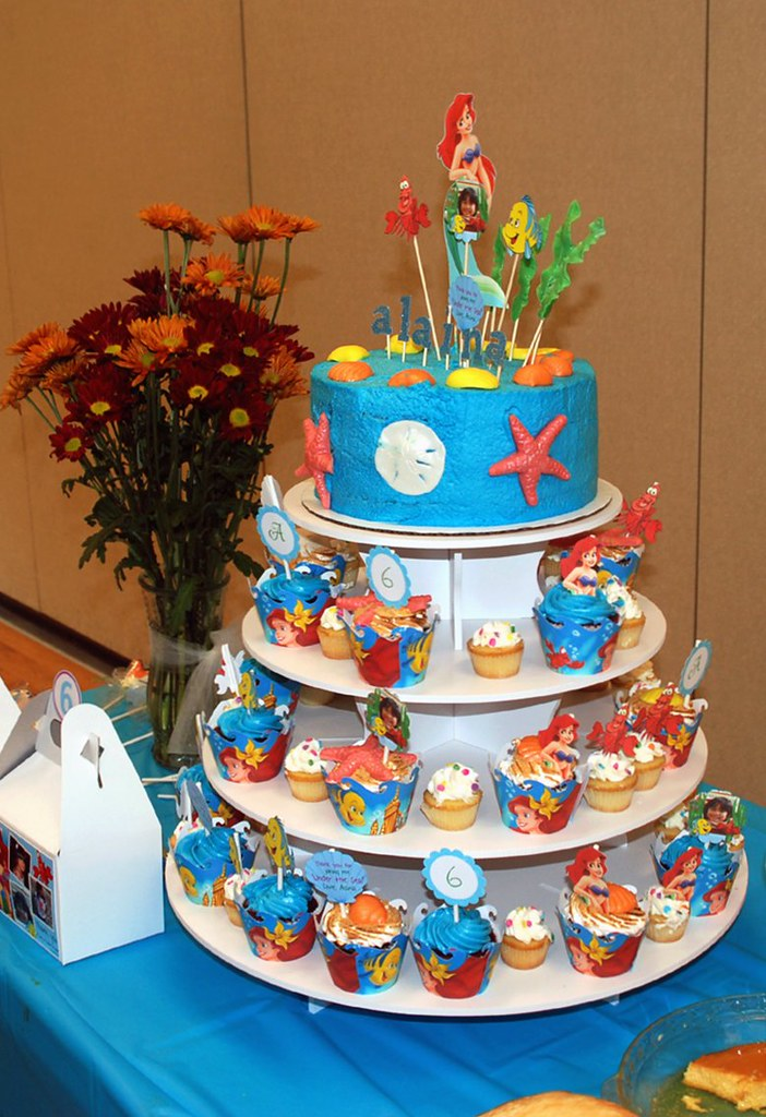 A Little Mermaid Birthday Photo Of The Full Dessert