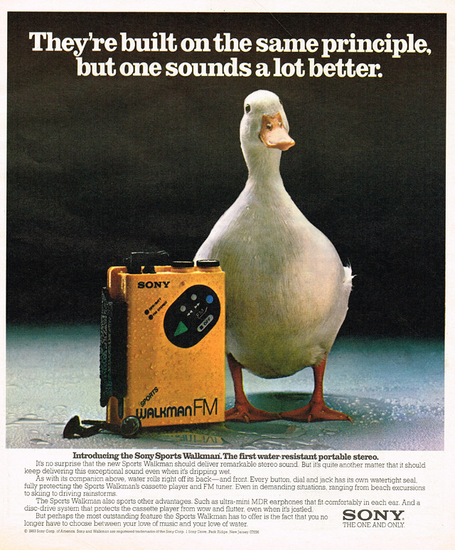 Vintage Ad 1 667 Which Sounds Better A Sony Walkman Or