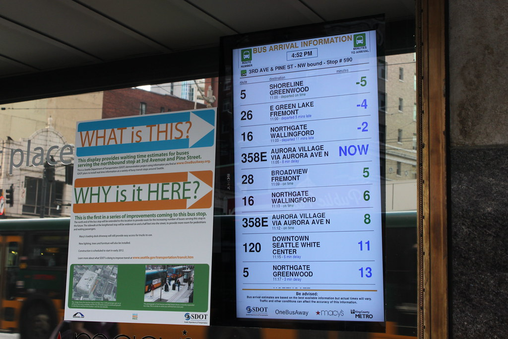 Real Time Bus Arrival Information Display Powered By