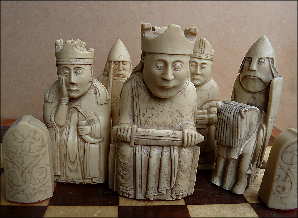 Lewis Chess Day 108 Viking Age Chess Pieces From The
