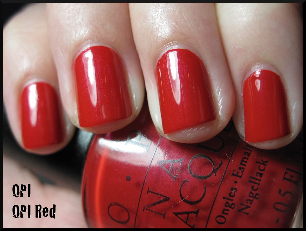 OPI OPI Red | Two coats without top coat, under an OTT ...