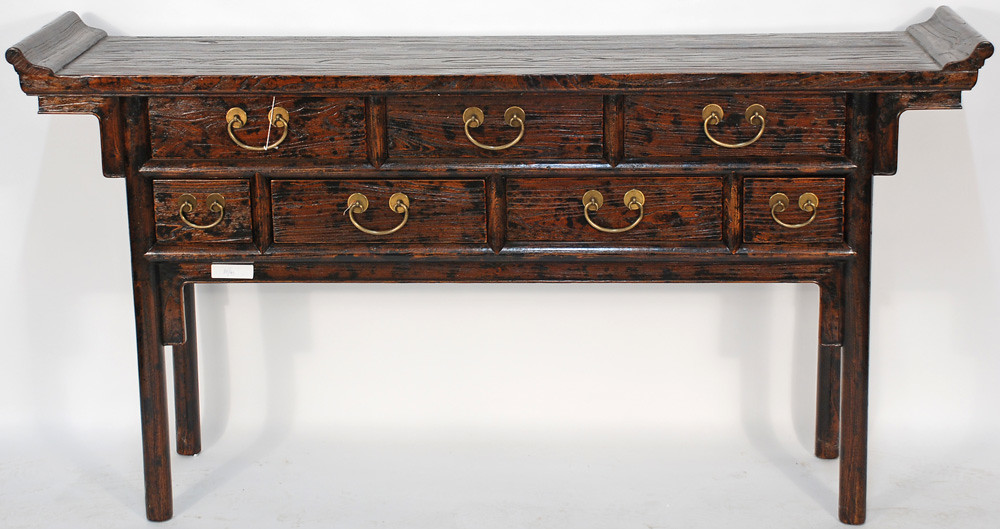 Bk y antique asian console table the rugged wood on