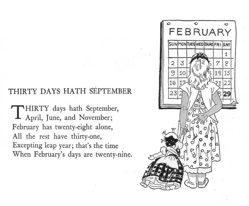"""Thirty Days Hath September   """"Childcraft, Volume One ..."""