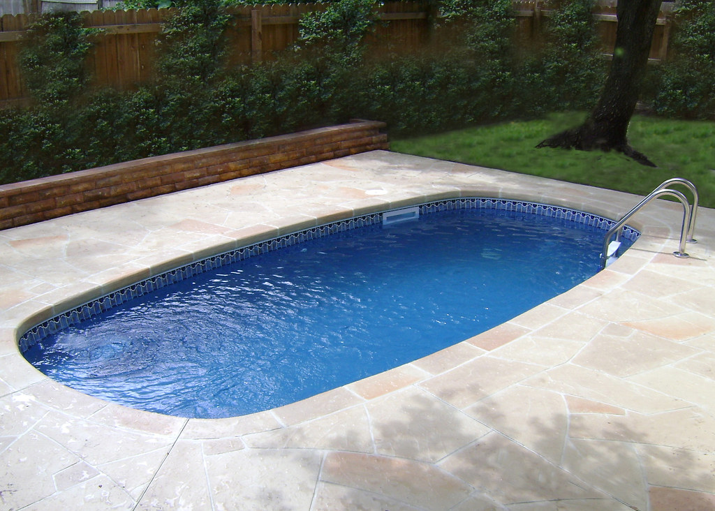 Blue Hawaiian Fiberglass Pools Crystal Bay Model Inground Swimming Pool Flickr