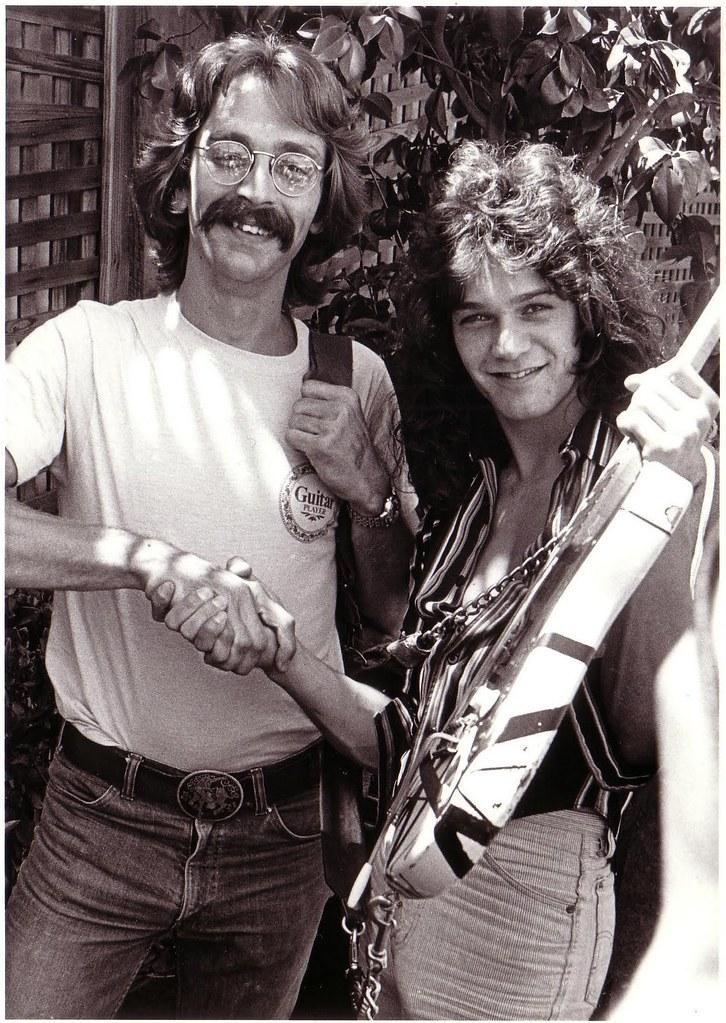 Jas Obrecht And Eddie Van Halen Backstage At Day On The Gr