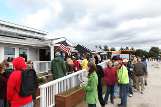 Visitors Line Up for Second Place Purdue | by Dept of Energy Solar Decathlon