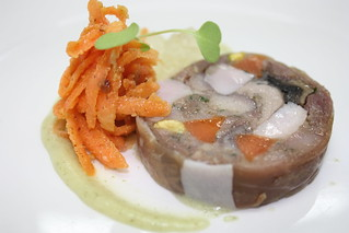 Southland rabbit terrine with Riesling jelly and toasted walnuts | by The Rees Hotel & Luxury Apartments
