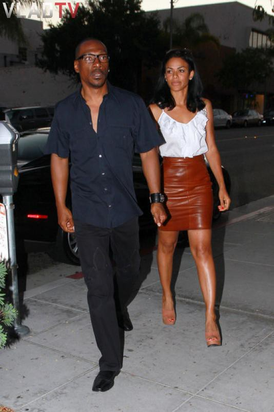 Eddie Murphy's chick in tight brown leather skirt | please c ...