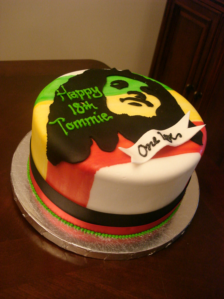 Bob Marley Birthday Cake Bob Marley Cake With Hand Painted Flickr
