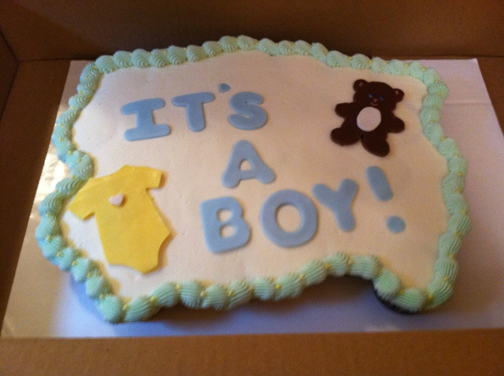 Cake Flavor Ideas For Baby Shower : Its a Boy! Baby Shower Pull Apart cake black n white ...