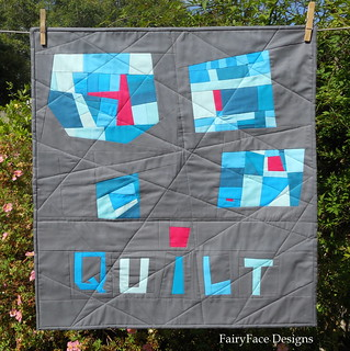 Kona mini quilt finished full view | by Sarah @ FairyFace Designs