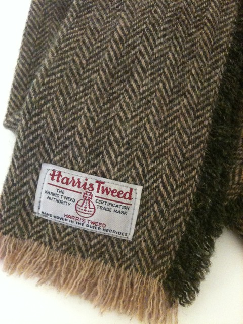 harris tweed scarf flickr photo