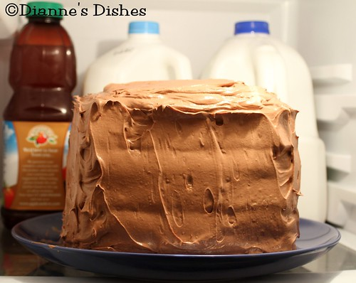 Triple Chocolate Ganache Cake: Buttercream Layer Setting in the Fridge | by Dianne's Dishes