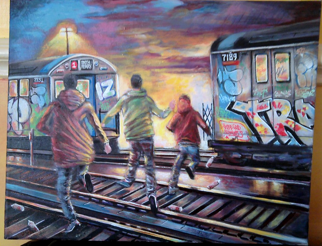 nyc subway paintings 1980s vandal squad raid tried to p flickr