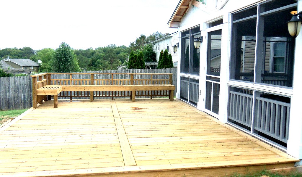Custom Deck with Picture Frame Deck Board Layout | REDBUD ...