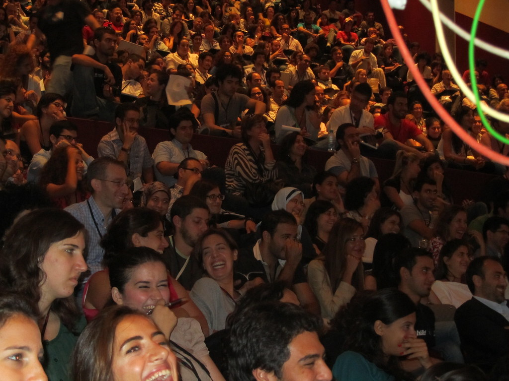 Audience Laughing Full House At Tedxbeirut Audience