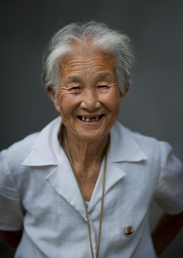 Old North Korean Woman - Pyongyang North North Korea  Flickr-9137