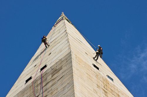 Washington Monument rappelers | by loco's photos