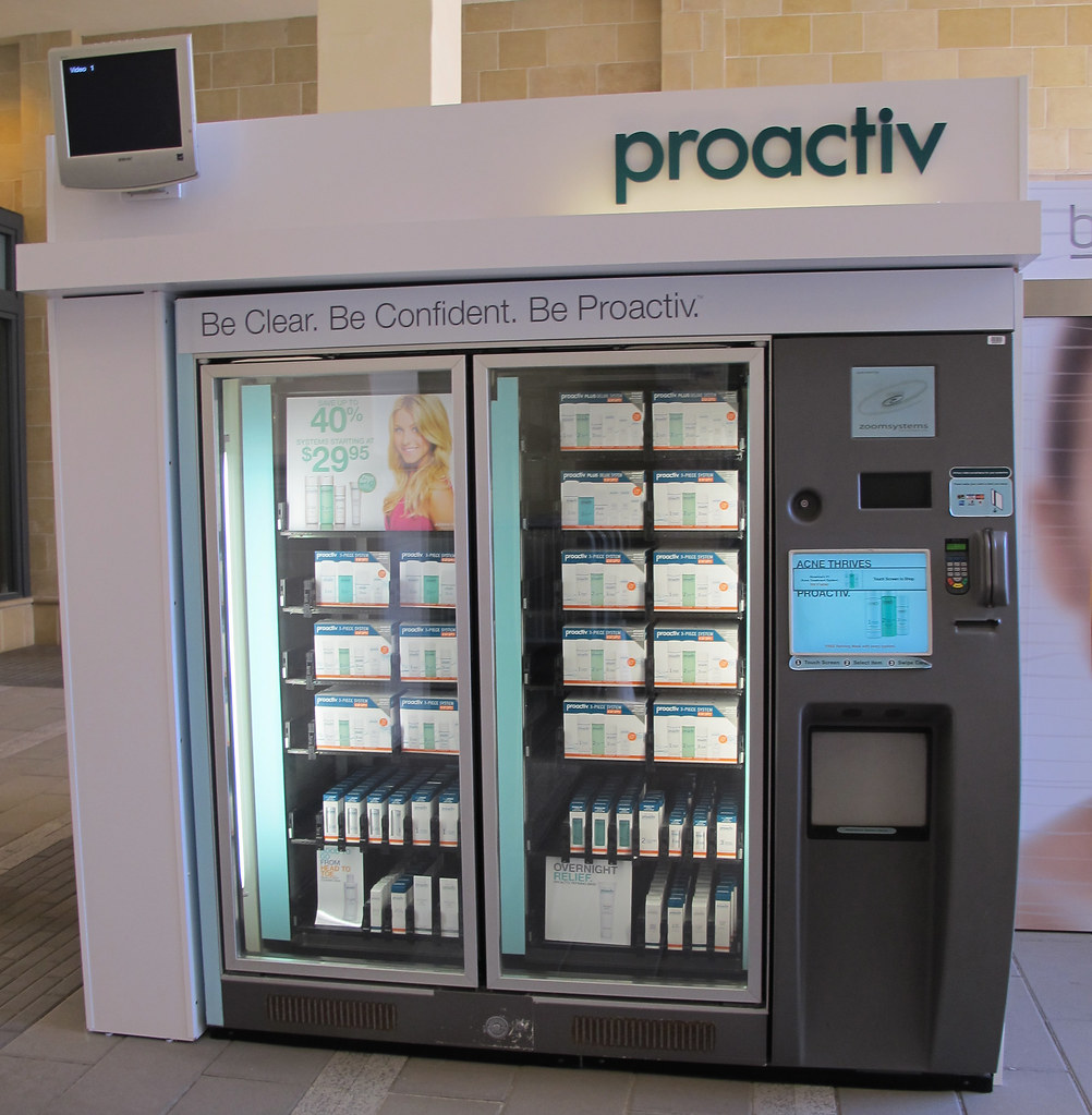 fashion valley mall  proactiv vending machine