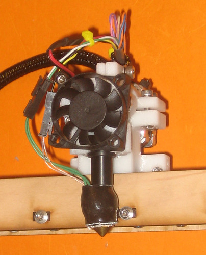 Extruder Mounted and Wired | by MakerGear
